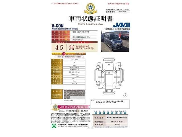 カスタムT 2WD/軽自動車/ターボエンジン/両側パワースライドドア/7インチワイドナビゲーション・バックカメラ/禁煙車/スマートキ/HIDヘッドライト&フォグランプ/車両状態評価書4.5点/プライバシーガラス/(5枚目)