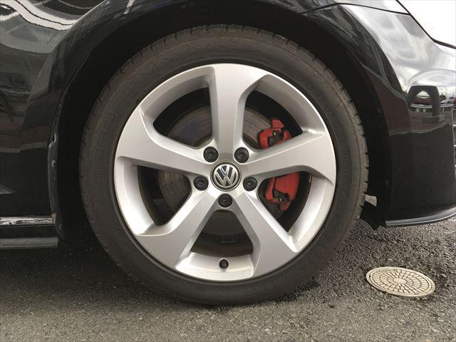 フォルクスワーゲン VW ゴルフGTI 純正ナビ リアカメラ ETC ACC 純正17インチアルミ