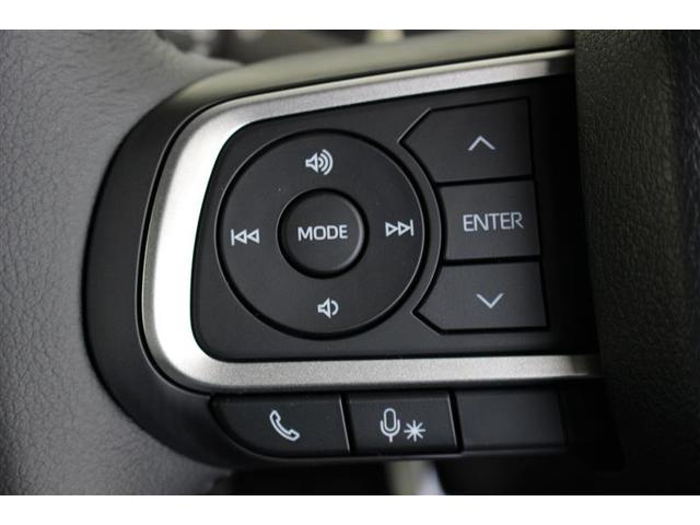 ステアリングスイッチ付き、オーディオ操作も手元でラクラクです。