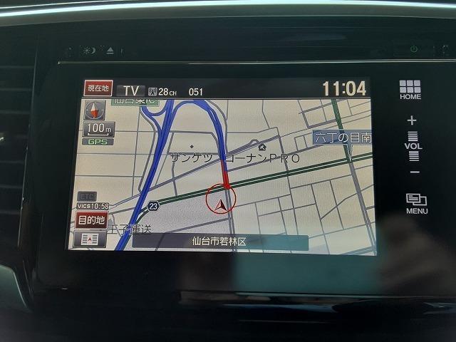 アブソルート 1オーナー車 純正インターナビ フルセグTV バックカメラ ブルートゥース 両側電動スライドドア フリップダウンモニター 衝突軽減ブレーキ クルコン パドルシフト LEDライト オートライト ETC(4枚目)
