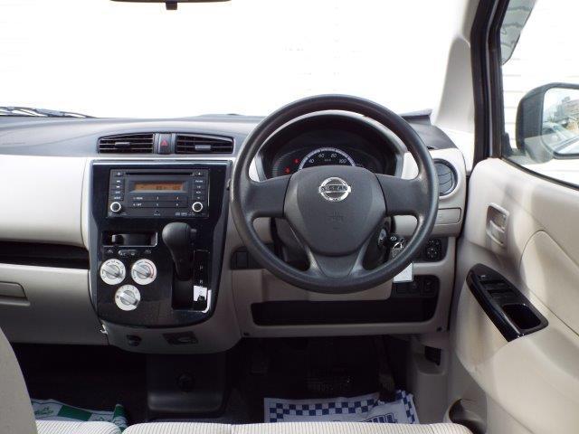 足元広々使えて操作も簡単インパネオートマ!Wエアバック、ABS付きで安全装備充実!