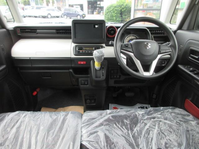 ハイブリッドG 4WD 届出済未使用車 スズキセーフティサポート 全方位モニター用カメラパッケージ ヘッドアップディスプレイ プッシュスタート クリアランスソナー オートライト スペアキー 電動格納ミラー(13枚目)