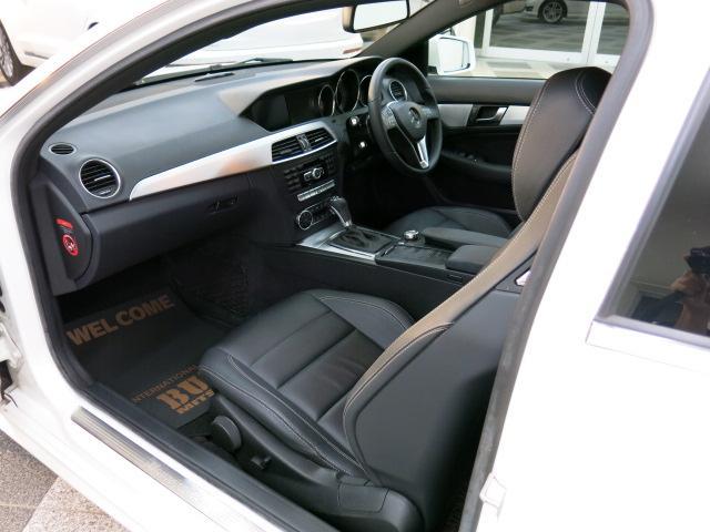 C180 ブルーエフィシェンシー クーペ AMGスポーツPKG 黒革Pシート シートヒーター(12枚目)