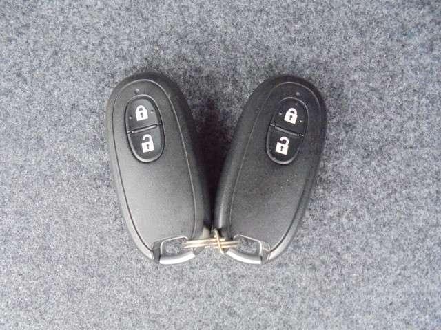 スマートキーです。リクエストスイッチを押すだけ、ドアロック開閉作動出来ます。