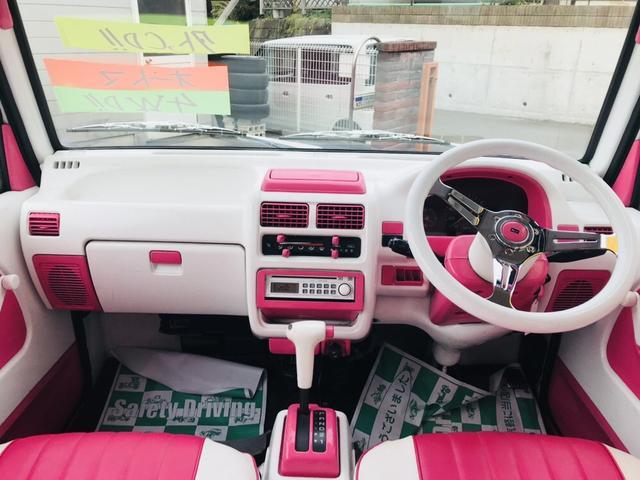 軽自動車 4WD フロアAT エアコン ピンクツートンカラー(7枚目)
