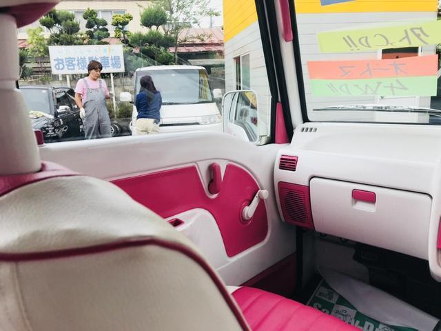 軽自動車 4WD フロアAT エアコン ピンクツートンカラー(12枚目)