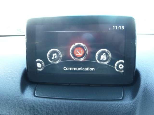【マツダコネクト】  オーディオ操作、車両装備、ナビ案内など、統合的にモニターできる7インチディスプレイです。