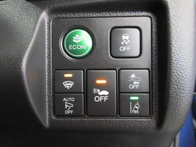 Hondaセンシングが装備されています。事故の未然防止や回避のための数々の機能を搭載した先進の運転支援システムです。ブレーキやステアリングなどを協調制御することで事故回避などの運転支援を行ないます。
