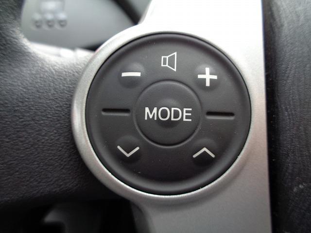 ハンドルについているスイッチでオーディオの操作ができます