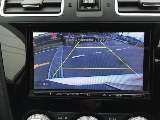 バックカメラで駐車も安心。