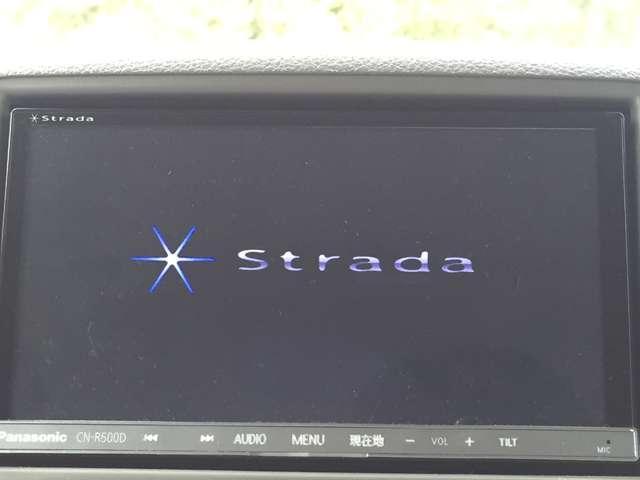 「ストラーダナビ」 ストラーダナビ付きで知らない土地のドライブも安心!CD、DVD、TVも楽しめます♪