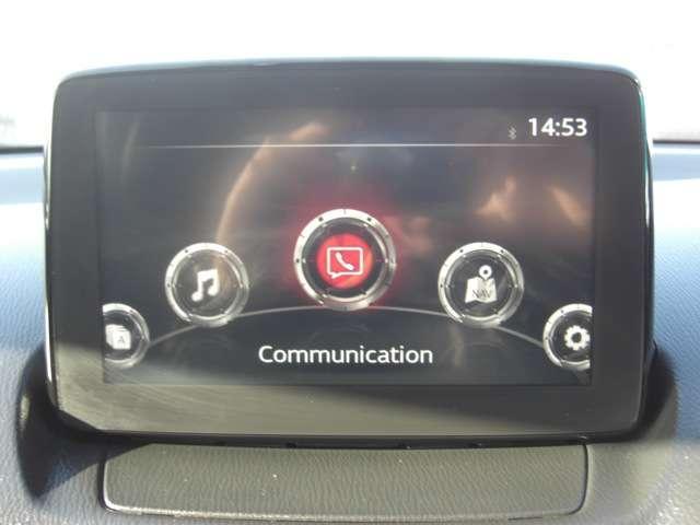 【マツダコネクト】  オーディオや車両装備・安全装備などをこのモニターで確認できます。オプションでナビゲーションにもなります。