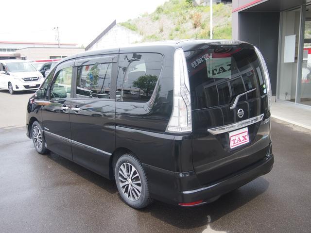 ハイウェイスター S-ハイブリッド エマージェンシーブレーキ 7インチメモリーフルセグナビ バックカメラ LEDライト ト革巻ハンドル 両側パワースライドドア 8人乗 ETC搭載 クルコン リアエアコン オートライト フォグランプ(9枚目)