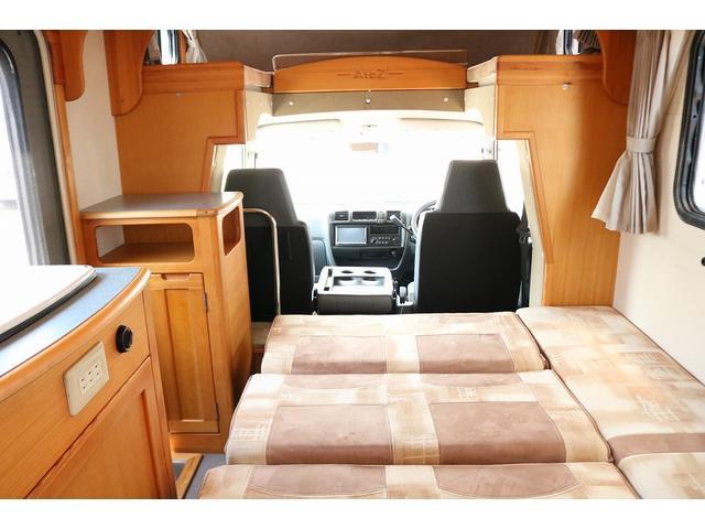 キャンピングカー AtoZ アミティ 4WD 常設二段ベッド ツインサブバッテリー ベバストFFヒーター サイクルキャリア サイドオーニング マックスファン 冷蔵庫 インバーター500W 走行充電(47枚目)