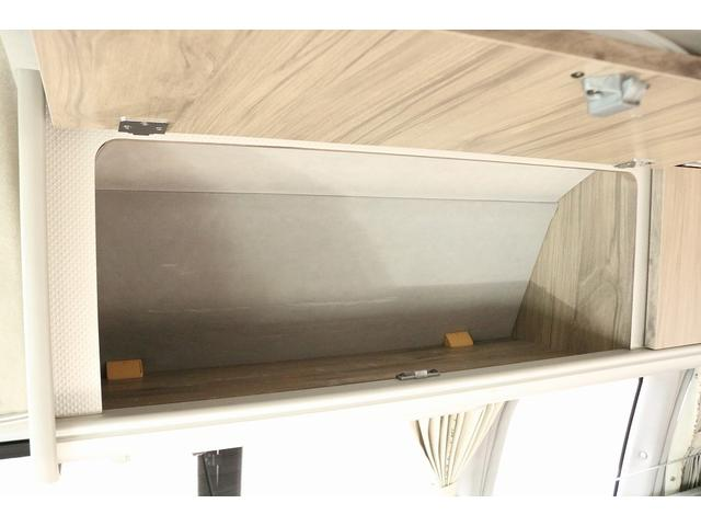 キャンピングカー ファーストカスタム リモギンガ 2WD 冷蔵庫 シンク コンロ FFヒーター 電子レンジ サブバッテリー 走行充電 外部充電 LED照明 社外HDDナビ 地デジ バックカメラ(18枚目)