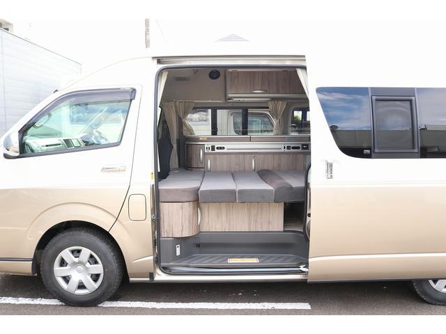キャンピングカー ファーストカスタム リモギンガ 2WD 冷蔵庫 シンク コンロ FFヒーター 電子レンジ サブバッテリー 走行充電 外部充電 LED照明 社外HDDナビ 地デジ バックカメラ(40枚目)