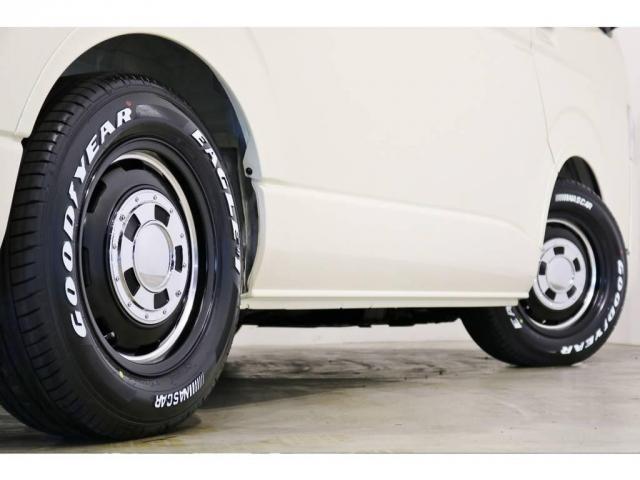 ガルシアシスコ16インチアルミホイールにグッドイヤーナスカータイヤを装着!オリジナルオーバーフェンダー(Delfino Line)で車検対応に!