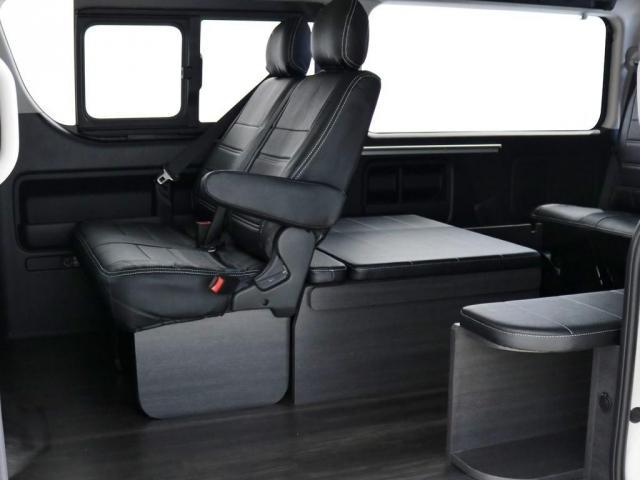GL ワゴンGL4WDラウンジタイプワゴンFLEX Ver1内装ナビフリップダウンモニターフロントエアロローダウン18インチアルミホイールブラックマイカ新車コンプリート車両(16枚目)