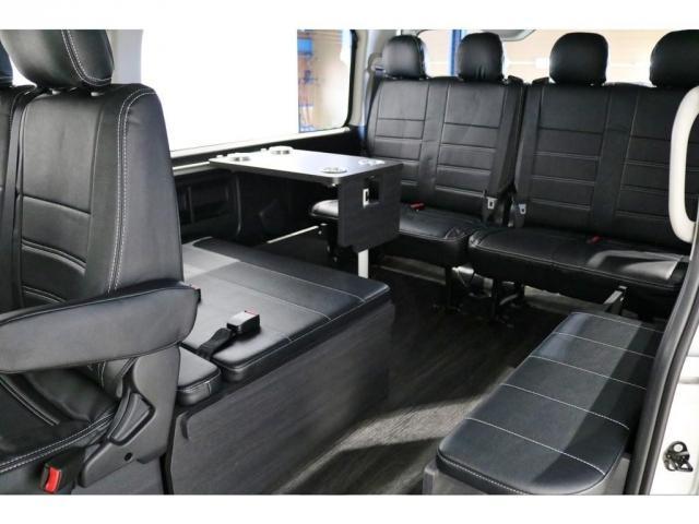 GL ワゴンGL4WDラウンジタイプワゴンFLEX Ver1内装ナビフリップダウンモニターフロントエアロローダウン18インチアルミホイールブラックマイカ新車コンプリート車両(17枚目)