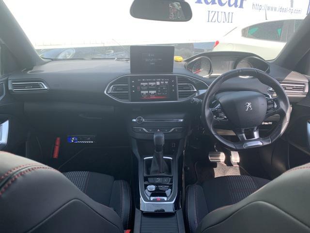 GTライン 半革シート LEDライト 地デジナビ バックカメラ Denonオーディオ スマートキー クルコン ETC 純正18AW(8枚目)