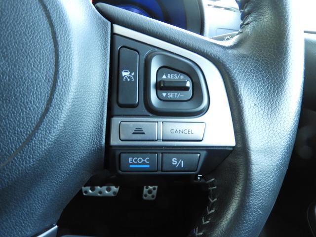 アイサイトを活かした、アダプディプオートクルーズ。操作設定も非常にしやすく、他車が苦手な低速時のスムーズな制御は秀逸です。ぜひご体感下さい。