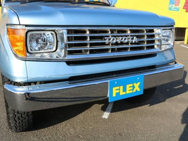 FLEXオリジナル78プラドフェイス換装♪メッキショートバンパーとの組み合わせもピッタリマッチしていますね★