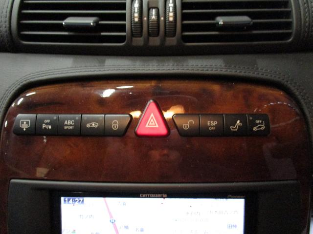 CL500 社外HDDナビ 黒皮シート ETC サンルーフ(19枚目)