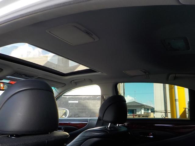 LS460 サンルーフ ブラックレザーエアシート 電動サンシェード ビルトインETC メモリーパワーシート(28枚目)