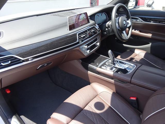 740d xDrive Mスポーツ 4WD 1オーナー ディーゼル 純正HDDナビ フルセグTV 全方位モニター ブラウンレザーシート サンルーフ インテリジェントセーフティ シートヒーター LEDヘッドライト ドラレコ ETC(4枚目)