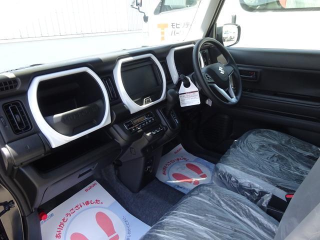 ハイブリッドG 4WD 届出済未使用車 デュアルカメラブレーキサポート シートヒーター ステアリングスイッチ スマートキー 純正フロアマット・純正バイザー・スタッドレス・アルミホイール付(4枚目)