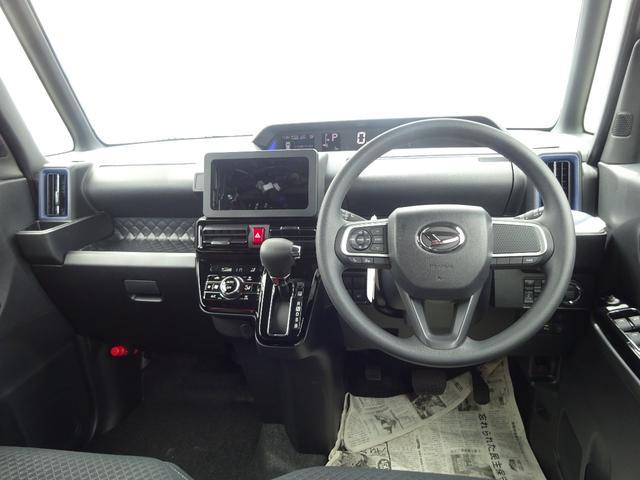 カスタムXスタイルセレクション 4WD 届出済未使用車 ナビ装着用アップグレードパック スマアシ 両側パワースライドドア LEDヘッドライト シートヒーター 純正マット・純正バイザー・スタッドレス・アルミホイール付き(3枚目)