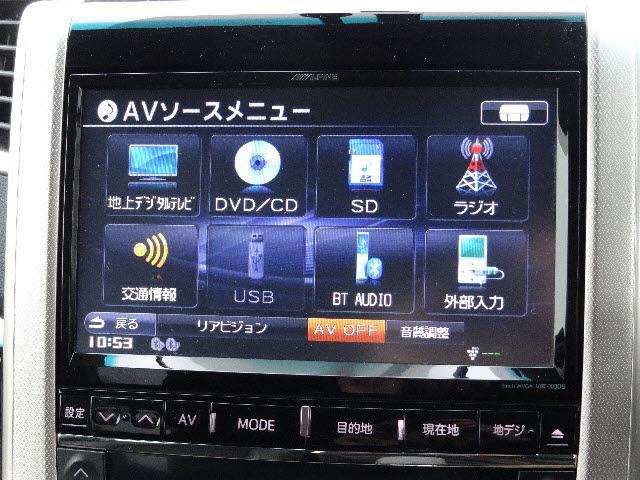 トヨタ ヴェルファイア 2.4Zゴールデンアイズ モデリスタ ビッグX リアモニター