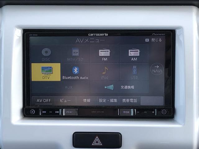 Xターボ 4WD デュアルカメラブレーキサポート 横滑り防止 カロッツェリア製フルセグSDナビ CD/DVD再生 Bluetooth接続 HIDオートライト シートヒーター アイドリングストップ スマートキー(4枚目)