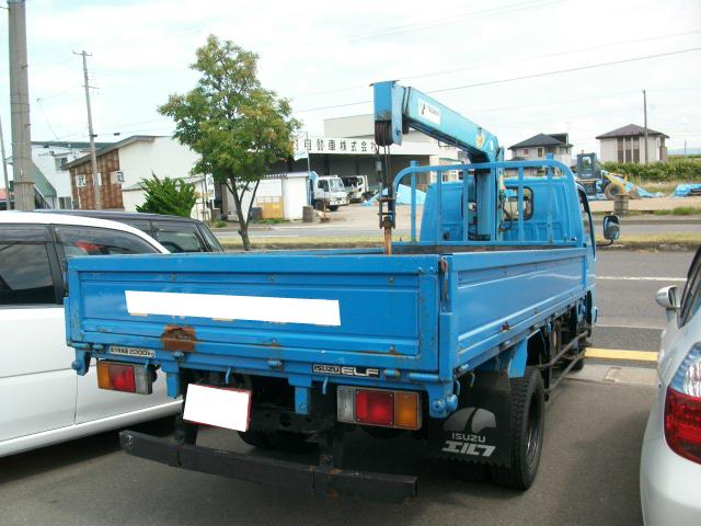 いすゞ エルフトラック 5速 ディーゼル エアコン タダノ3段クレーン