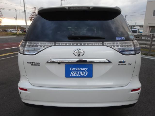 トヨタ エスティマハイブリッド X 4WD HDDナビフルセグTVフリップモニターBカメラ