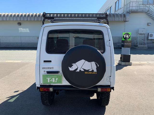 ランドベンチャー 4WD エンジンОH済 リフトアップ 5速マニュアル 記録簿 M/Tタイヤ F&Rクロカンバンパー ルーフキャリア 黒革調シートカバー MOMOステアリング ノックスドール施工済 16インチAW(26枚目)