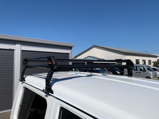 ランドベンチャー 4WD エンジンОH済 リフトアップ 5速マニュアル 記録簿 M/Tタイヤ F&Rクロカンバンパー ルーフキャリア 黒革調シートカバー MOMOステアリング ノックスドール施工済 16インチAW(37枚目)