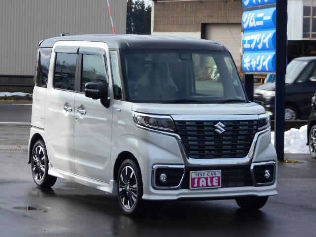 「スズキ」「スペーシアカスタム」「コンパクトカー」「秋田県」の中古車2