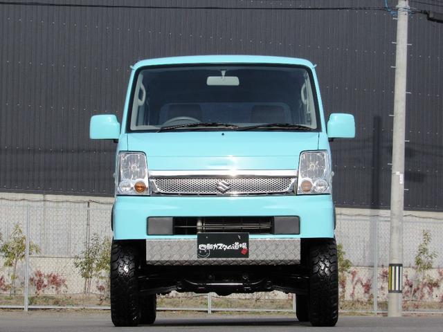 スズキ エブリイワゴン JP 4WD リフトUP 地デジナビ 革調インテリア