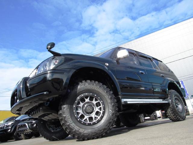 トヨタ ランドクルーザープラド TXDターボ4WD イカリングH リフトUP 革調インテリア
