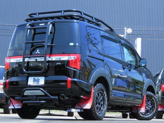G パワーパッケージ 4WD AmzStudio BKエディション 1.2リフトUP キャンパー仕様  KADDISルーフラック 新品AWセット 純正サイドS レダクル衝突軽減 ステアリモコン Pゲート(12枚目)