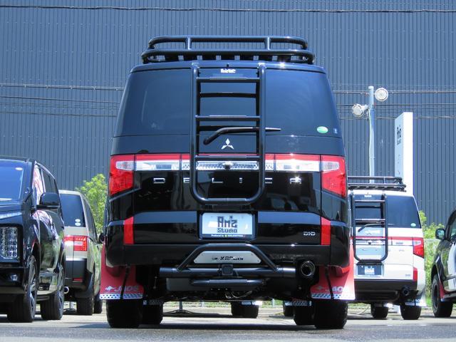 G パワーパッケージ 4WD AmzStudio BKエディション 1.2リフトUP キャンパー仕様  KADDISルーフラック 新品AWセット 純正サイドS レダクル衝突軽減 ステアリモコン Pゲート(14枚目)