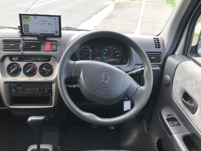ホンダ バモス M 4WD ポータブルナビ 両側スライドドア キーレス
