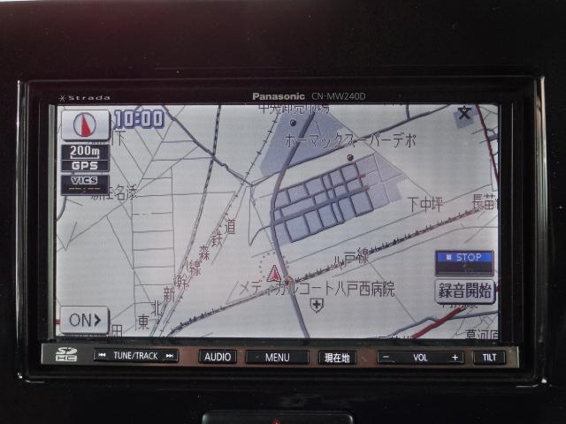 日産 モコ X FOUR フルセグ対応SDナビ 社外エンジンスターター