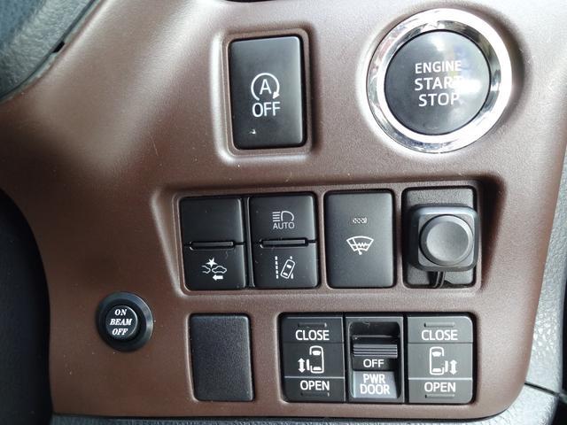 Gi 4WD 両側電動スライドドア 純正レザーシート 純正フルエアロ フルセグ対応9インチ純正SDナビ 純正フリップダウンモニター 社外16インチアルミ LEDヘッドライト スマートキー ETC車載器(12枚目)