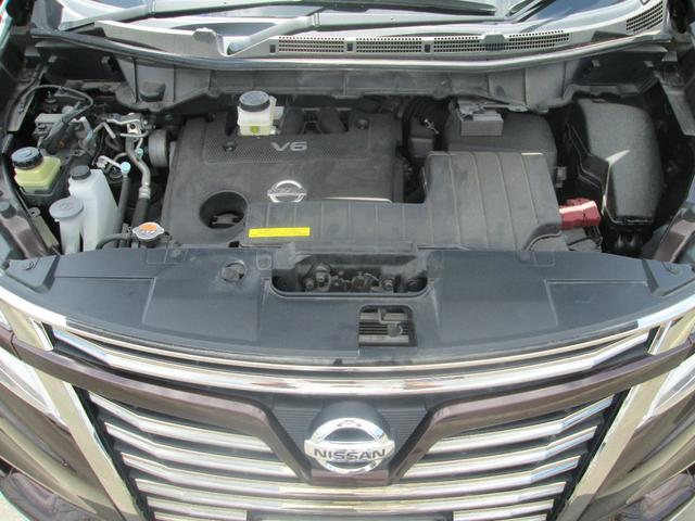 350ハイウェイスターアーバンクロム 4WD ツインサンルーフ ハーフレザーシート 両側電動スライドドア パワーバックドア カロッツェリア製フルセグ対応サイバーナビ&フリップダウンモニター 純正18AW タイヤ新品 純正エンジンスターター(26枚目)