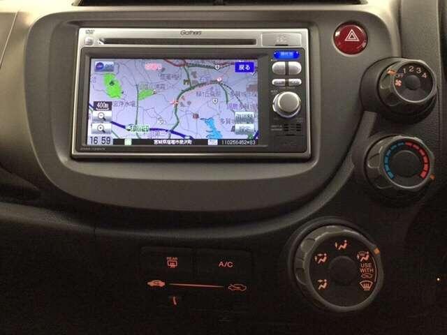 ナビのオーディオ機能にはワンセグTV、CD・DVD再生、SDカードスロット、USB端子がついています。