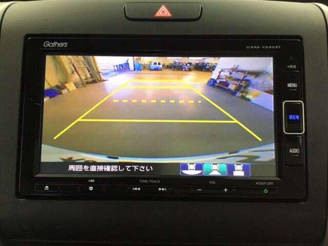 後方の視界もお任せください。安心安全バックモニター付きです。初めて運転される方や、バック操作が苦手な方には強い味方ですね♪目視・ミラーと合わせてご活用ください。