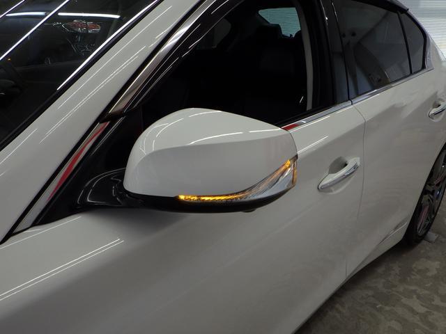 350GT FOUR ハイブリッド タイプSP 寒冷地仕様 ワンオーナー禁煙車 サンルーフ アラウンドビューモニター ビルトインETC 純正ドラレコ ドアLEDランプ 木目調フィニッシャー TVキット 純正オプション19インチメッキアルミホイール(43枚目)