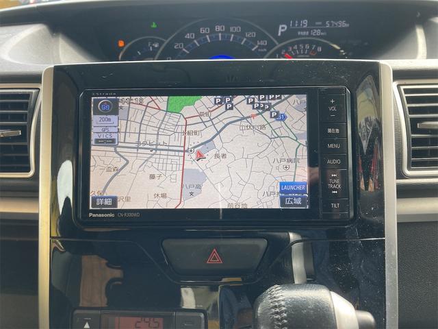 カスタムRS SA 4WD ターボ ワンオーナー 両側電動スライドドア パナソニックストラーダメモリーナビ フルセグTV CD DVD再生可能 バックカメラ エンジンスターター 14インチアルミ アイドリングストップ(35枚目)